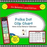 Polka Dot Clip Chart  Home-School Behavior Calendars 2018-