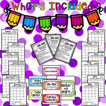 Clip Chart System Pack {Polka Dot and Brights theme}