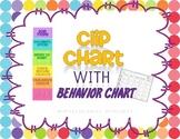 Polka Dot Clip Chart with Behavior Chart
