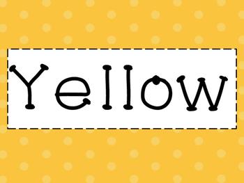 Polka Dot Color Cards