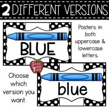 Polka Dot Color Name Posters