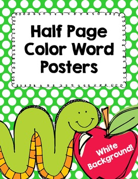 Polka Dot Color Posters- Half Page Posters