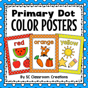 Polka Dot Color Posters (Primary Dots)-Classroom Decor