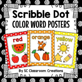 Polka Dot Color Posters (Scribble Dot)