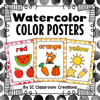 Polka Dot Color Posters (Watercolor)