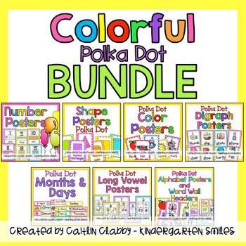 Polka Dot Colorful Decor BUNDLE