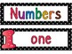Polka Dot Colorful Number Cards/Plates