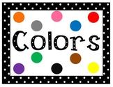Polka Dot Colors Sign