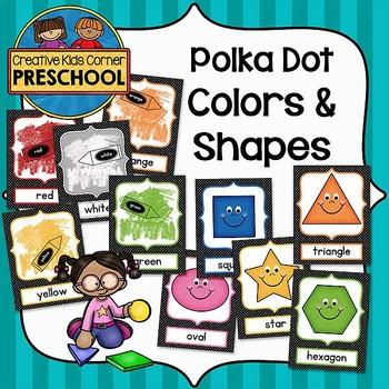 Polka Dot Colors and Shapes Posters