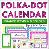 Polka Dot Complete Calendar Bulletin Board Set