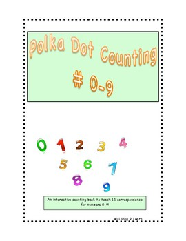 Polka Dot Counting Numbers 0-9 Interactive Adapted Book