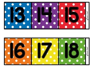 [Polka-Dot] Counting the Days (to 100) Number Line