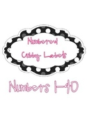 Polka Dot Cubby Labels