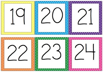 """Polka Dot Cubby and Calendar Numbers 3.5"""""""