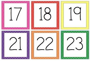 free printable calendar numbers 1 31 pdf