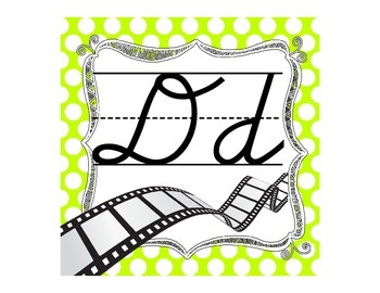 Polka Dot Cursive Alphabet-Movie Themed