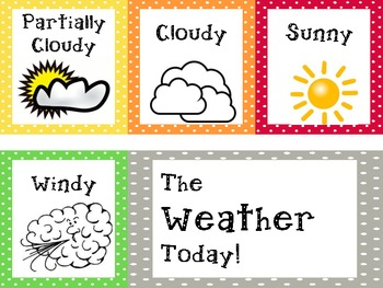 Polka Dot Daily Weather Board Bright colors
