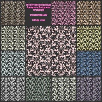 Polka Dot / Damask Overlay BUNDLE - Create Your Own Backgrounds