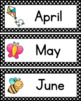 Polka Dot Days & Months Cards