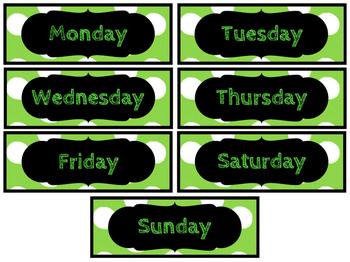 Polka Dot Days of the Week