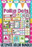 Polka Dot Decor Bundle in Queensland Beginners Font