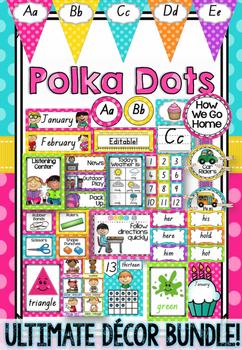 Polka Dot Decor Bundle in Queensland Beginners Font