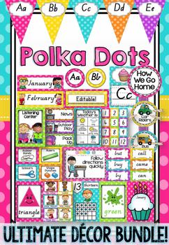 Polka Dot Decor Bundle in Victorian Cursive Font