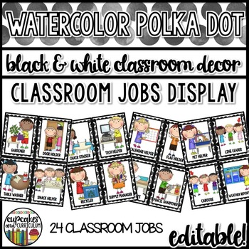 Polka Dot Decor: Classroom Jobs Editable