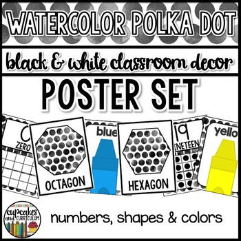 Polka Dot Decor: Classroom Poster Set