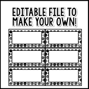 Polka Dot Decor: Library Bin Labels Editable