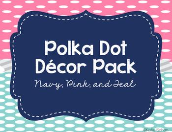Polka dots class decor- MEGA PACK