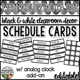 Polka Dot Decor: Schedule Cards Editable