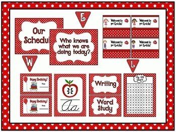 Polka Dot Room Theme Classroom Decor {Editable}