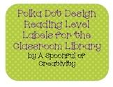 Polka Dot Design Reading Level Labels