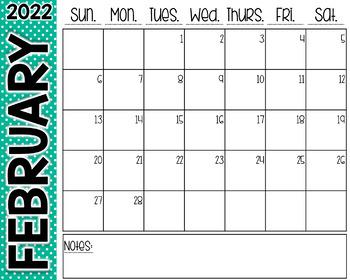 Polka Dot Desk Calendar
