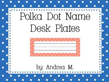 Polka Dot Desk Name Plates