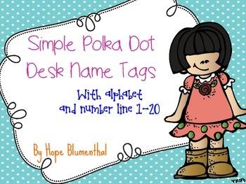 Polka Dot Desk Name Tags