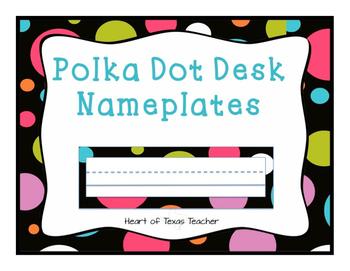 Polka Dot Desk Nameplates