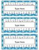 Polka Dot Desk Nametags {EDITABLE!}