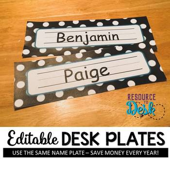 Nameplates Polka Dot *EDITABLE VERSION*