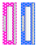 Desk Name Tags: Polka Dot Theme!
