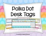 Polka Dot Desk Tags (Name Plates)
