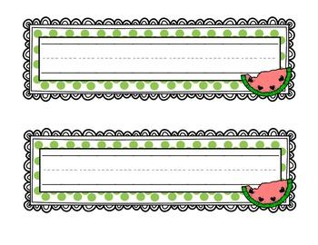 Polka Dot Desk and Table Name Tags