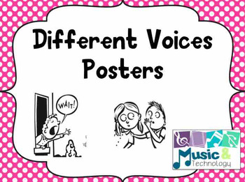 Polka Dot Different Voices Posters