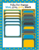Polka Dot Digital Frames: blue, gold, gray, black