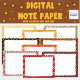 Polka Dot Digital Note Paper - Journal - Digital Scrap booking