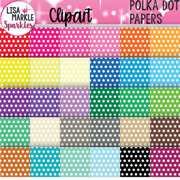Polka Dot Digital Paper Background Clipart