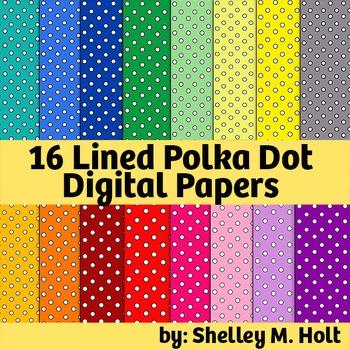 Polka Dot Digital Paper / Backgrounds