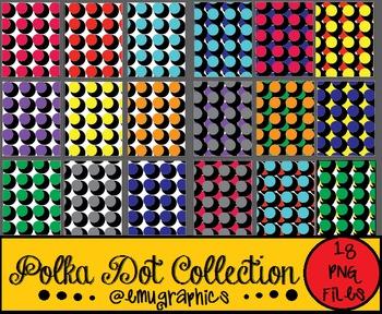Polka Dot Digital Paper Collection