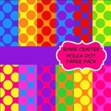 Polka Dot Background Paper Pack for Cover Sheets, Backgrou
